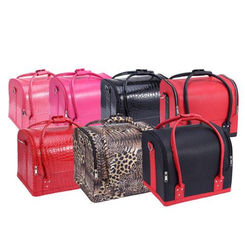 Cosmetic Case in Large Capacity Professional Beauty Tool Organizer Handbag Travel Cosmetic Storage Box